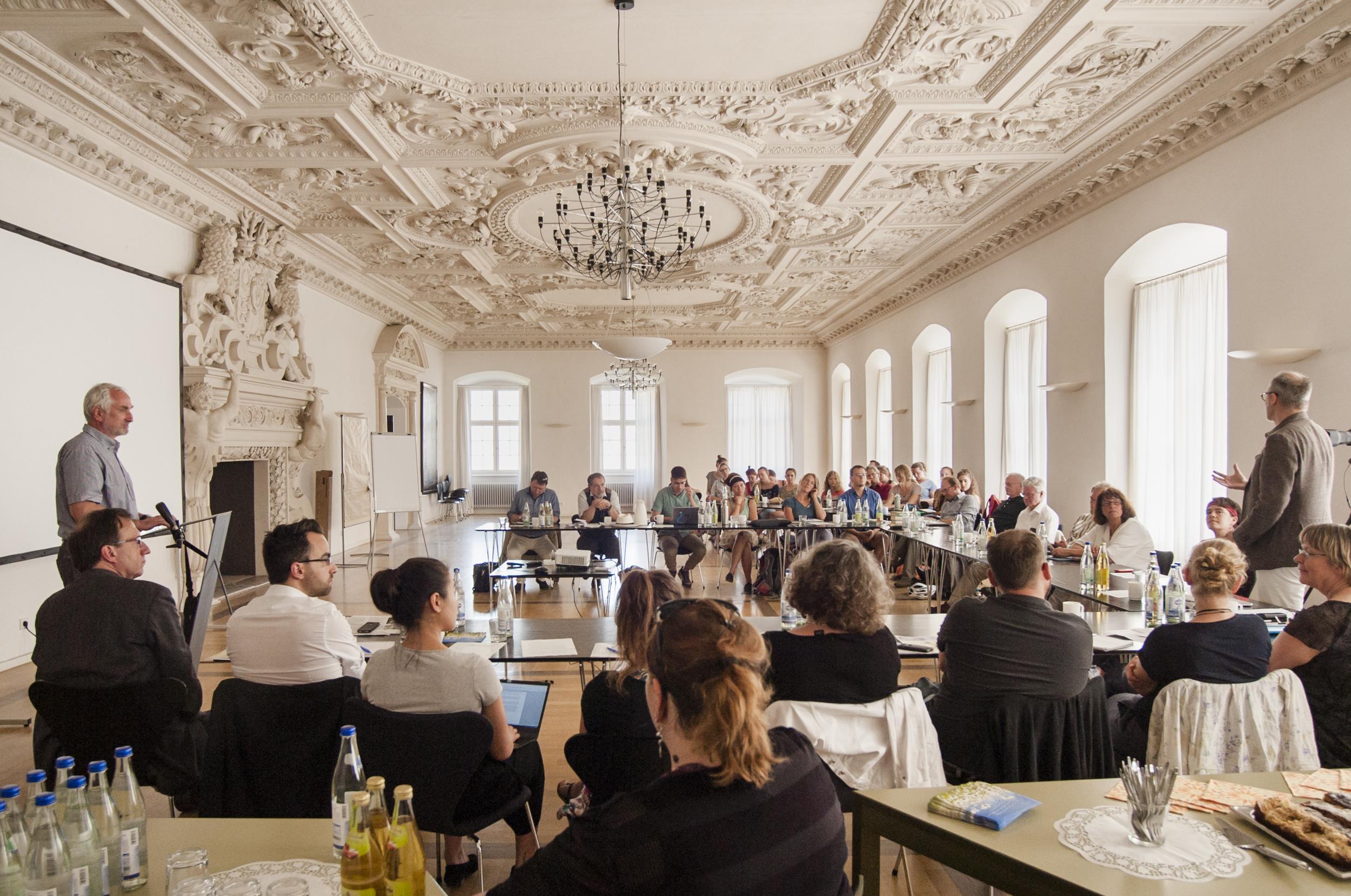 Die Workshop-Teilnehmerinnen und -Teilnehmer im Marquardus-Saal